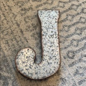 """Rustic Metal """"J"""""""